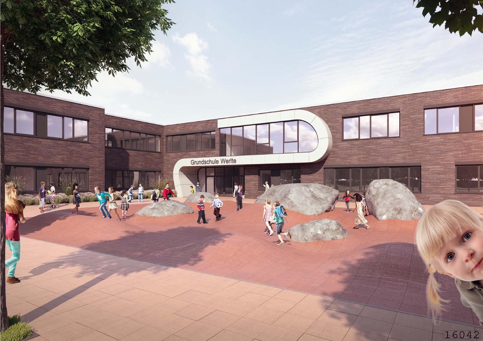 Dachdeckerarbeiten Grundschule Werlte